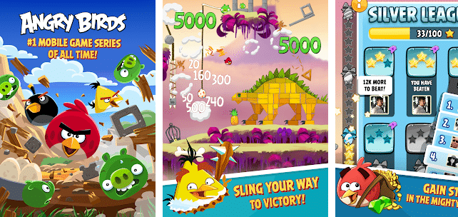 ANGRY BIRDS-Games That Don't Need WiFi Connection