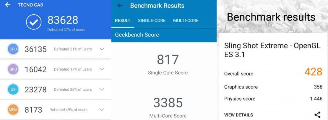 Camon X Pro benchmark