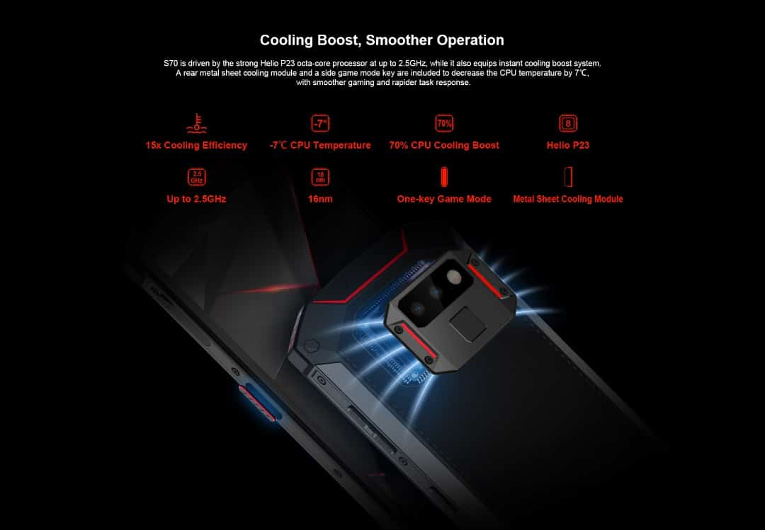 Doogee s70 cooling system