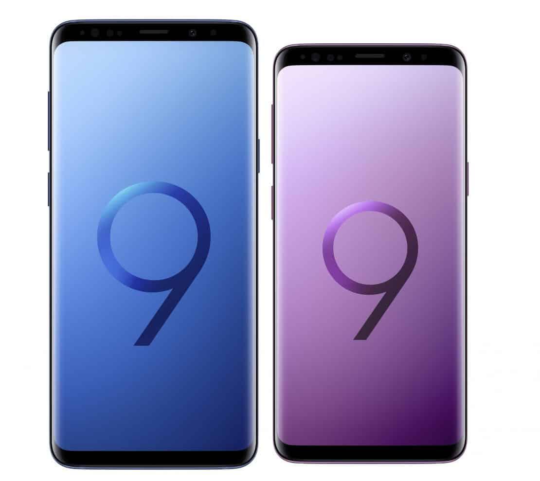 Samsung Galaxy S9 and S9 Plus display