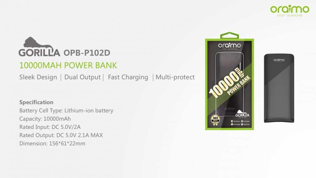 Gorilla OPB-P102D (10000mAh Li-Ion Battery)