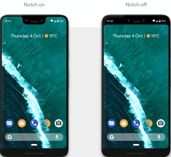 Hide the Notch on the Google Pixel 3 XL