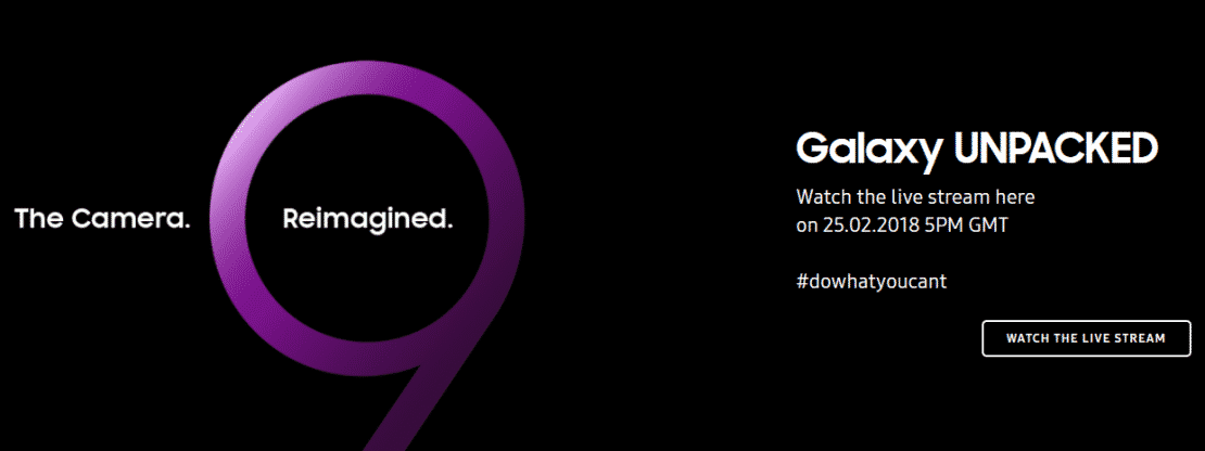 How to Watch the Samsung Galaxy S9 Unpacked 2018 live