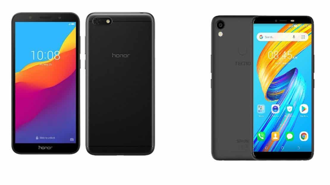Huawei Honor 7s vs spark 2