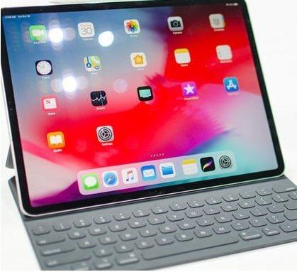 New iPad Pro with keyboard