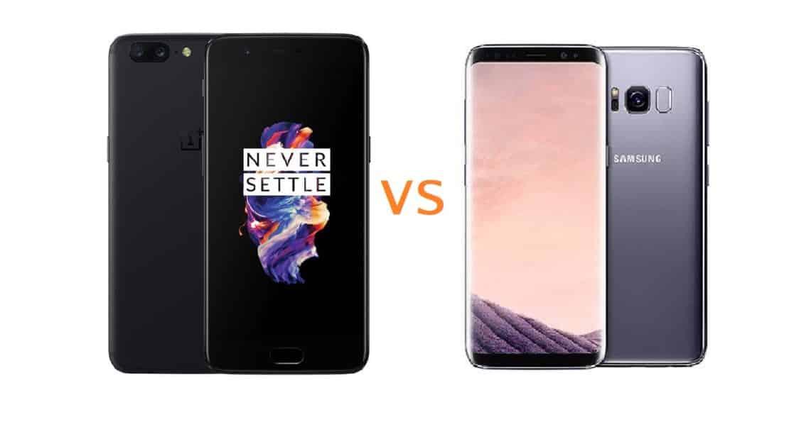 OnePlus 5T vs Samsung Galaxy S8