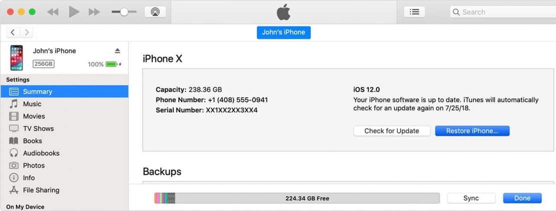 Reset Passcode On iPhone Xs Max