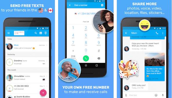 Text Me – Free Texting & Calls