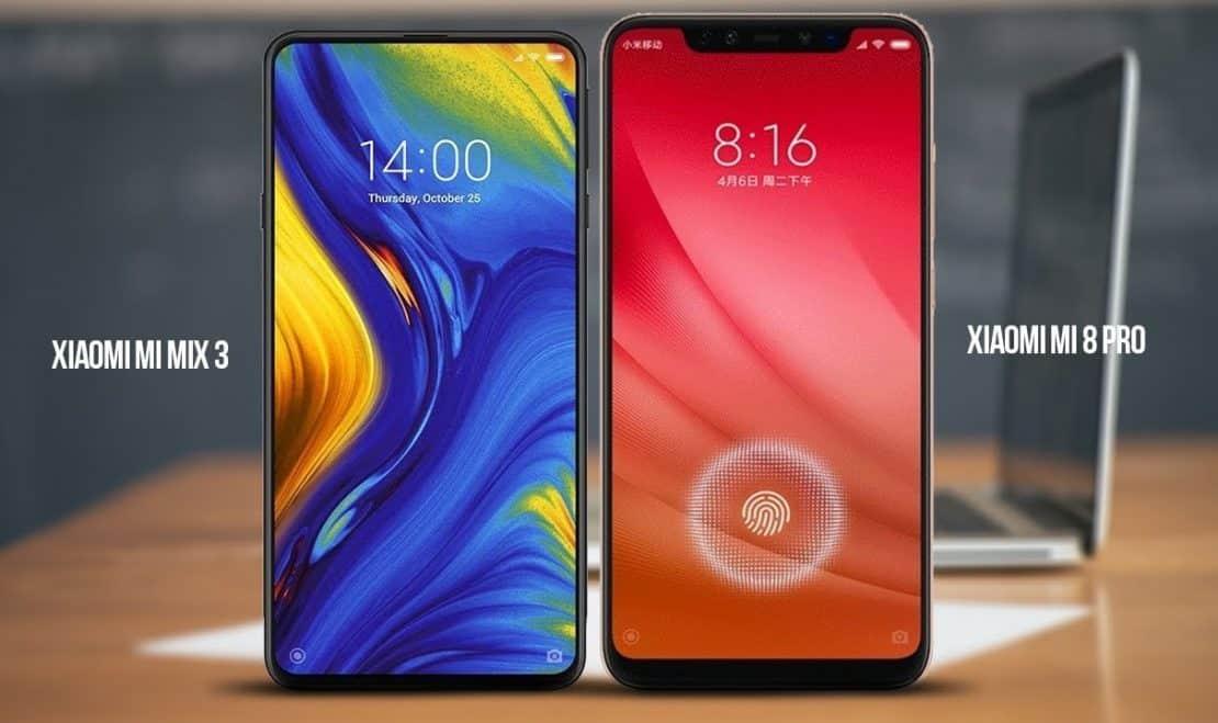Xiaomi Mi Mix 3 Vs Mi 8 Pro