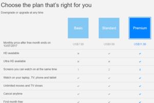 Netflix subscription plan