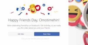 facebook friends day video 2017