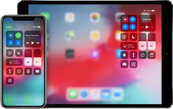 Access Control Center on iPhone and iPad