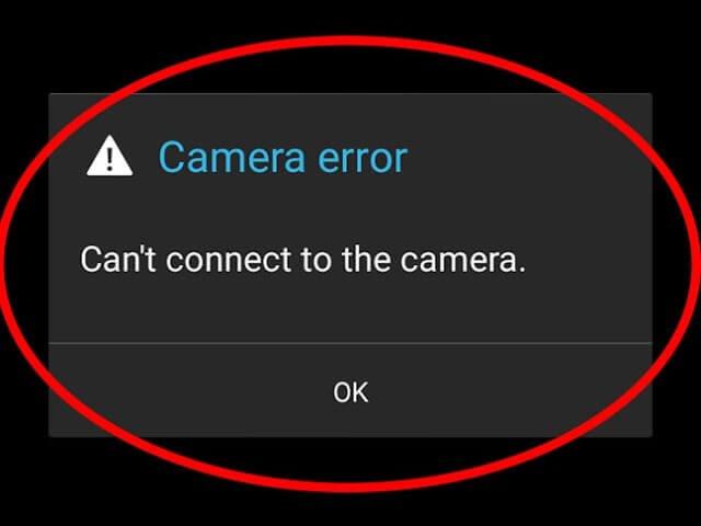 Camera Not Working error