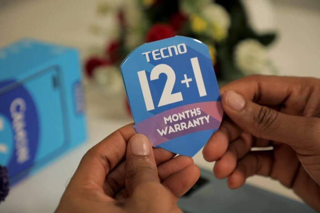 Camon 16 waranty card