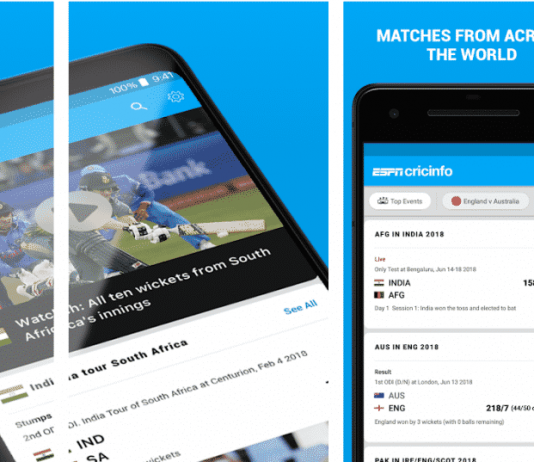 Cricket live scores app
