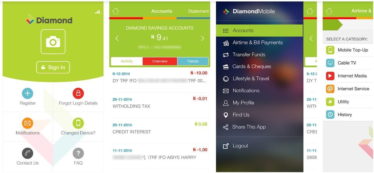 Diamond Bank Mobile app image