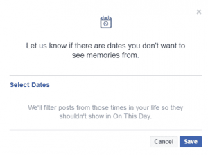 turn off Facebook on this day notification image