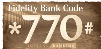 Fidelity Bank Money Transfer code