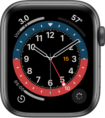 GMT apple watch face
