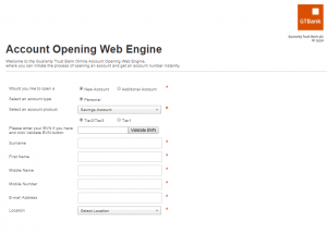 GTBank Online Account opening web engine