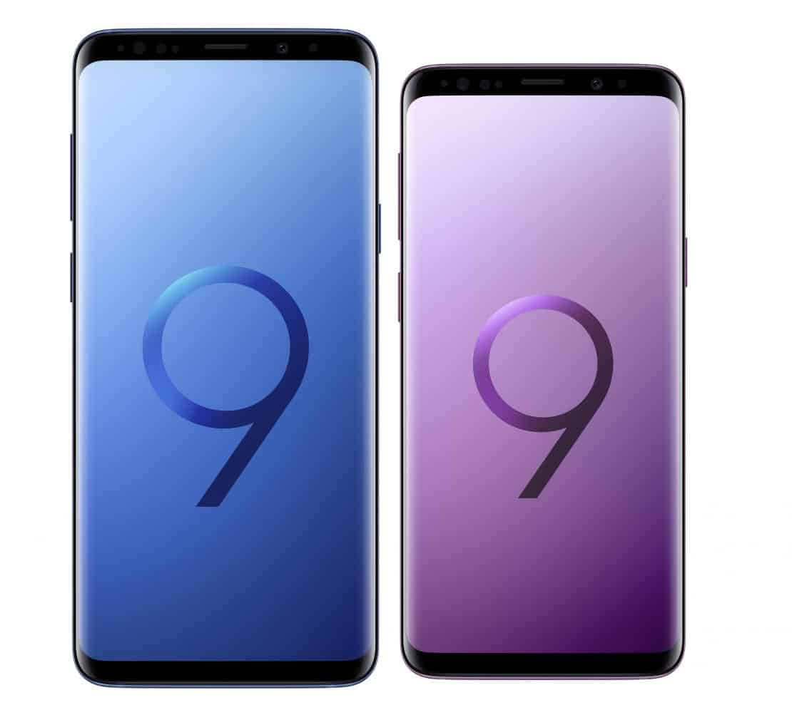 Samsung Galaxy S9 and S9 Plus display