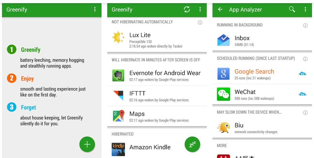 Greenify battery saver app