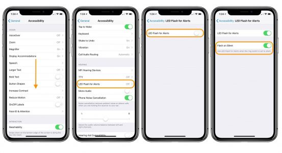 How To Enable Text and Call Flash Light Alerts on iPhone