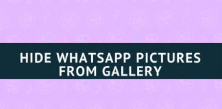 How to Hide WhatsApp Pictures from Gallery on Android