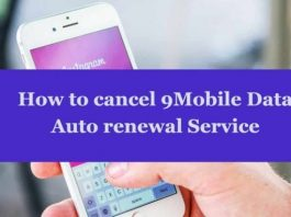How to cancel 9Mobile data auto renewal Service