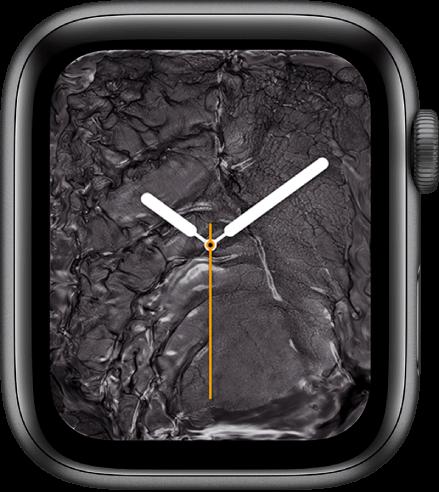 Liquid Metal apple watch face