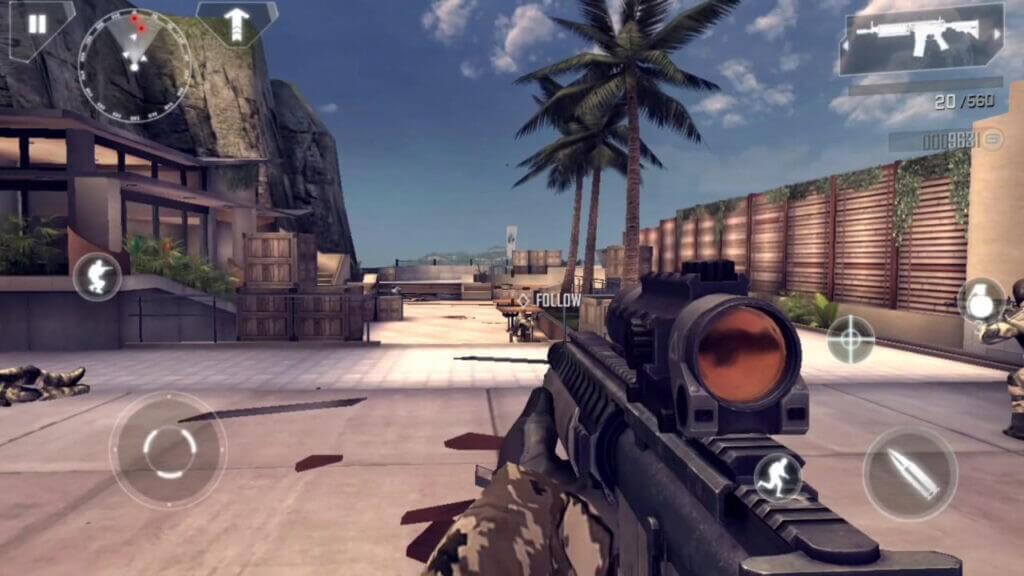 Modern Combat 4 game play