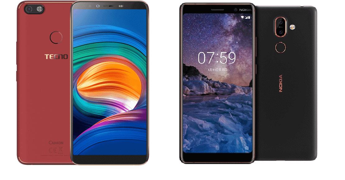 Nokia 7 Plus vs Tecno Camon X Pro