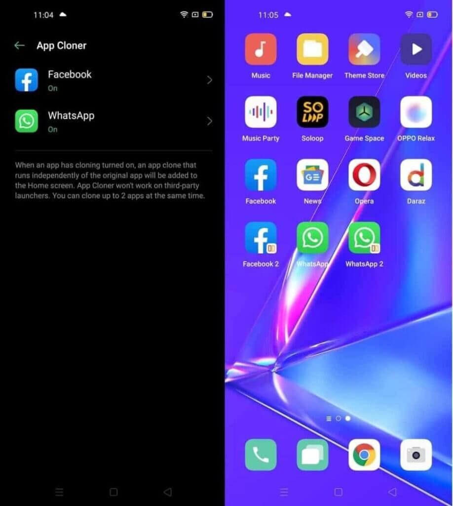 OPPO A92 dual app