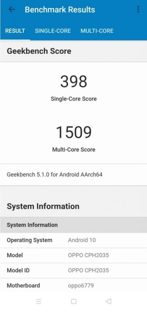 Oppo-Reno3-Pro-Geekbench-scores