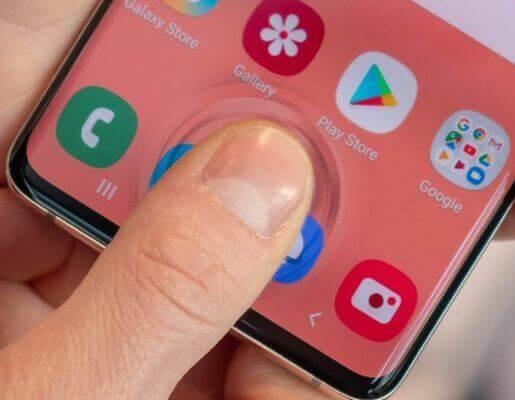 Samsung Galaxy S10 ultrasonic Fingerprint Sensor
