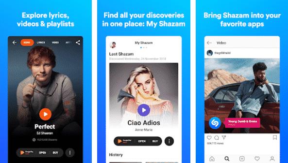 Shazam -Best Songs Recognizer Apps: