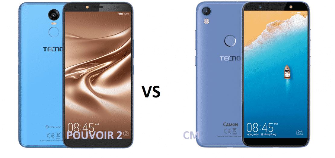 TECNO Camon CM vs Pouvoir 2