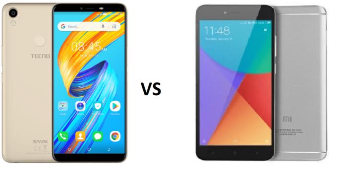 TECNO Spark 2 vs Xiaomi Redmi Note 5A