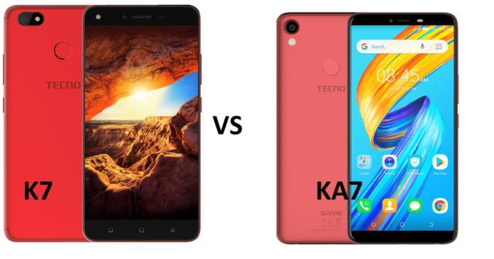 Tecno Spark 2 Vs Spark K7 comparison