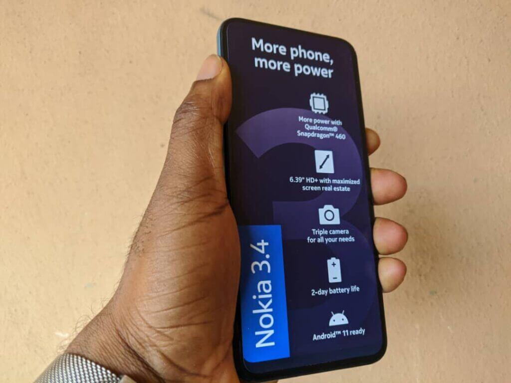 Nokia 3.4 display