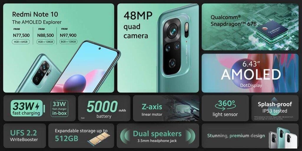 Xiaomi Redmi Note 10 series price