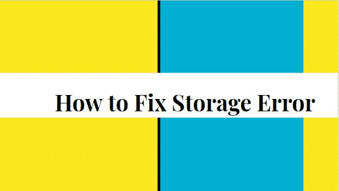 fix insufficient storage error