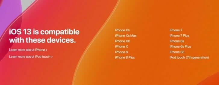 New iOS 13 Dark Mode